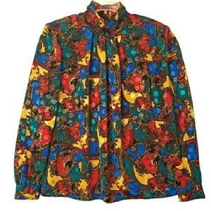 Laura & Jayne Collection Vintage Colorful Blouse